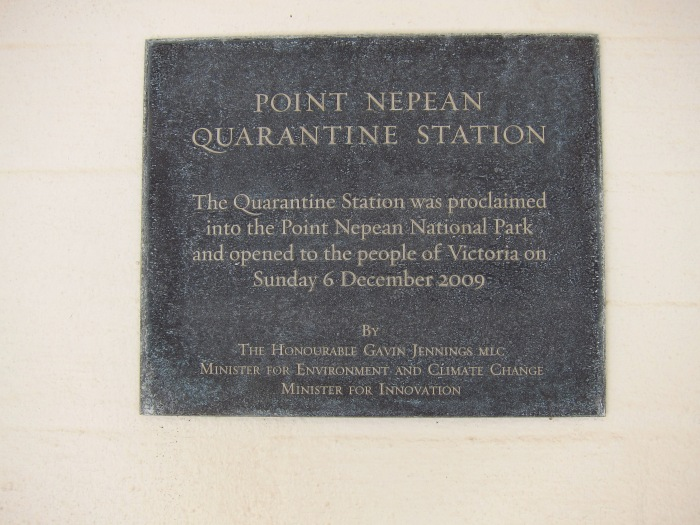 16. Quarantine Station sign
