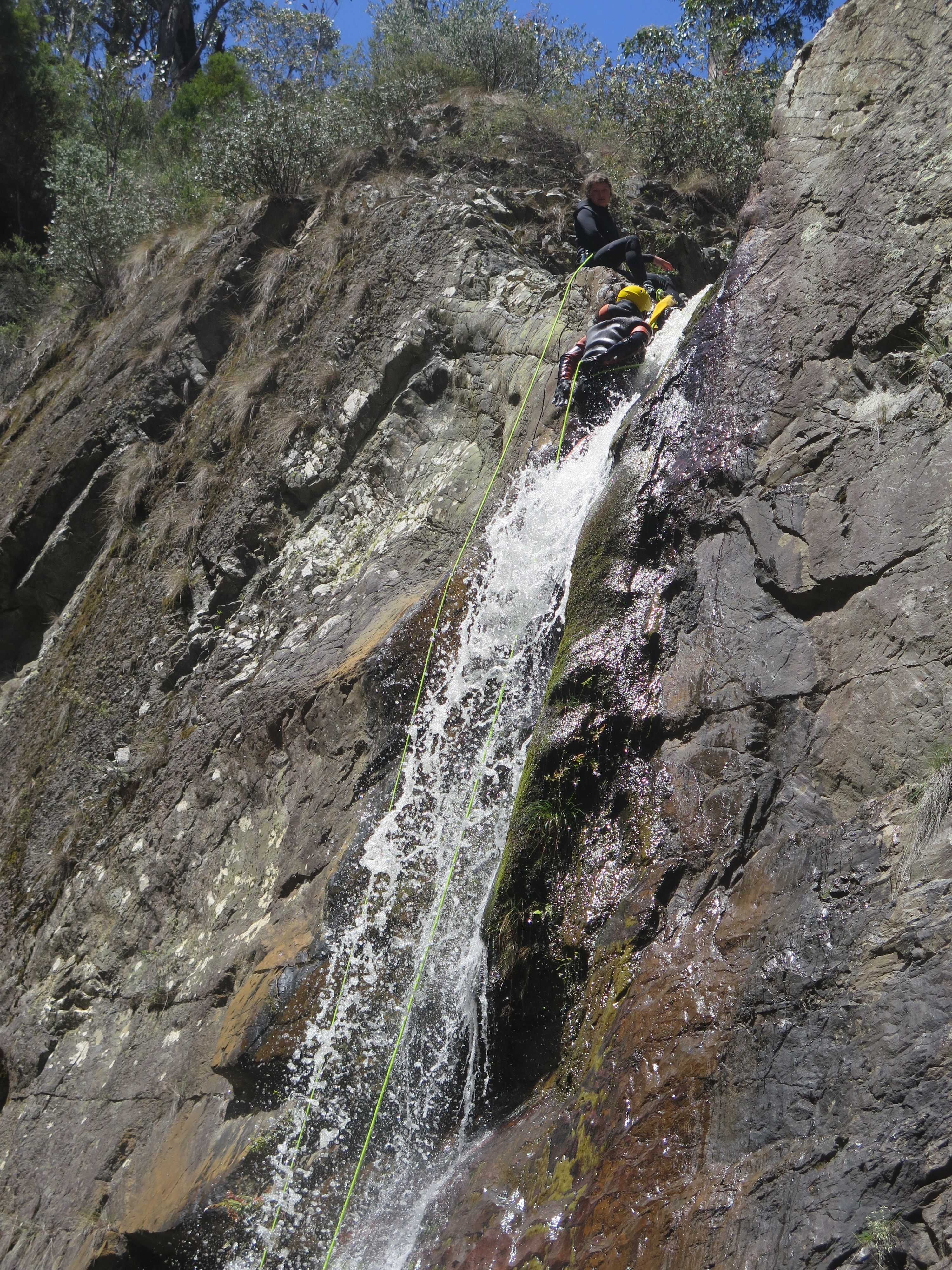 13. Cliff climbing with fall
