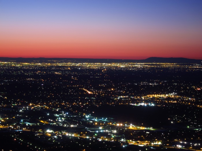 21A. Mt Dandenong Lookout - city night