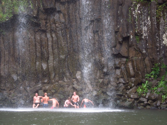 18. Millaa Millaa Falls guys swimming